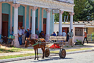 Horse and cart in Las Martinas, Pinar del Rio, Cuba.