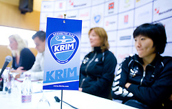 Press conference of women handball club RK Krim Mercator,  on October 20, 2009, in M Hotel, Ljubljana, Slovenia.   (Photo by Vid Ponikvar / Sportida)