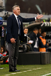 November 10, 2018 - Genoa, Italy - Napoli head coach Carlo Ancelotti gestures during the Lega Seria A match between Genoa CFC and SSC Napoli on November 10, 2018 at Stadio Luigi Ferraris in Genoa, Italy. (Credit Image: © Mike Kireev/NurPhoto via ZUMA Press)