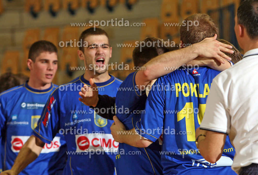 Cimos Koper at handball match RK Cimos Koper vs RK Gold Club in final of Slovenian Handball Cup, on March 30, 2008 in Celje, Slovenia. Cimos Koper won the game 30:25 and became the Winner of Slovenian Cup. (Photo by Vid Ponikvar / Sportal Images).