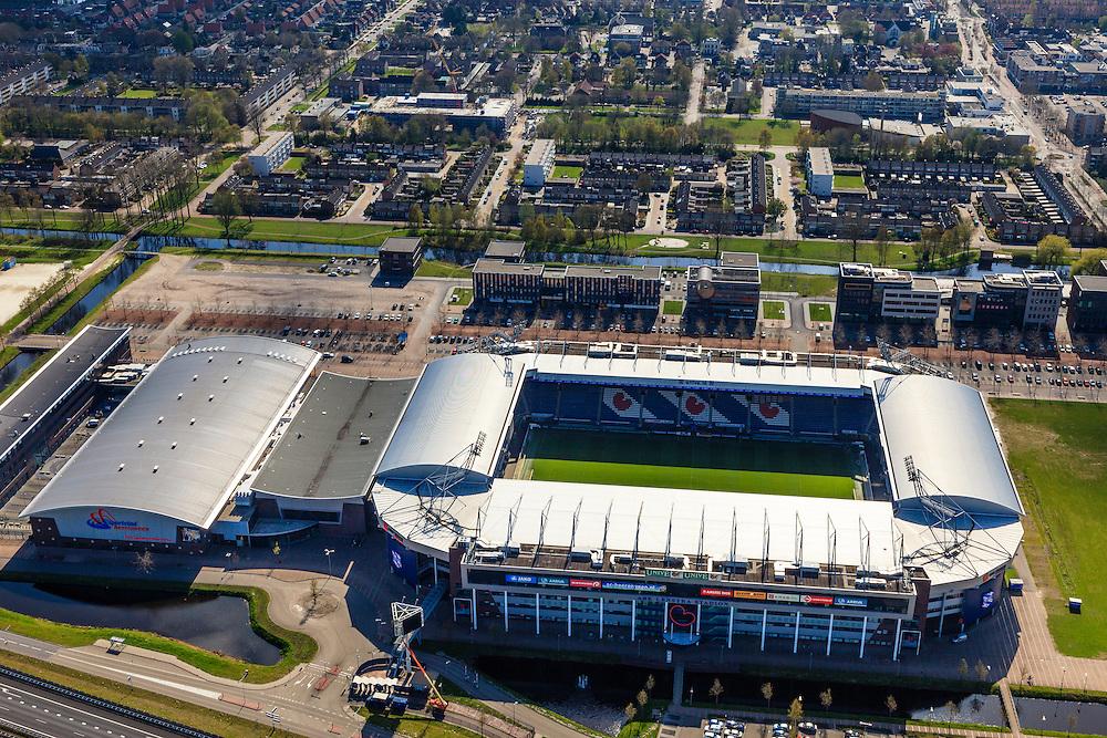 Nederland, Friesland, Gemeente Heerenveen, 01-05-2013; stadion sc Heerenveen, onderdeel van  Sportstad Heerenveen.<br /> Football Stadium Heerenveen, Friesland, Northern Netherlands.<br /> luchtfoto (toeslag op standard tarieven)<br /> aerial photo (additional fee required)<br /> copyright foto/photo Siebe Swart