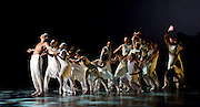 Alvin Ailey American Dance Theater at <br /> Sadler&rsquo;s Wells London <br /> Great Britain <br /> <br /> Artistic director Robert Battle<br /> 6th September 2016 <br /> <br /> rehearsal <br /> <br /> Exodus <br /> <br /> <br /> Alvin Ailey American Dance Theater, founded in 1958, is recognised by the U.S. Congress as a vital American &ldquo;Cultural Ambassador to the World.&rdquo;  Under the leadership of Artistic Director Robert Battle, Ailey&rsquo;s performances celebrate the human spirit through the African-American cultural experience and the American modern dance tradition.  In almost six decades, Ailey&rsquo;s artists have performed for over 25 million people in 71 countries on six continents and continue to wow audiences and critics around the world.<br /> <br /> <br /> <br /> Exodus<br /> <br /> Choreography by Rennie (Lorenzo) Harris <br /> <br /> Set to gospel and house music along with spoken word, the work underscores the crucial role of action and movement in effecting change. Exemplifying his view of hip hop as a &ldquo;celebration of life&rdquo;,<br /> <br /> Jamar Roberts <br /> <br /> <br /> <br /> <br /> Photograph by Elliott Franks <br /> Image licensed to Elliott Franks Photography Services