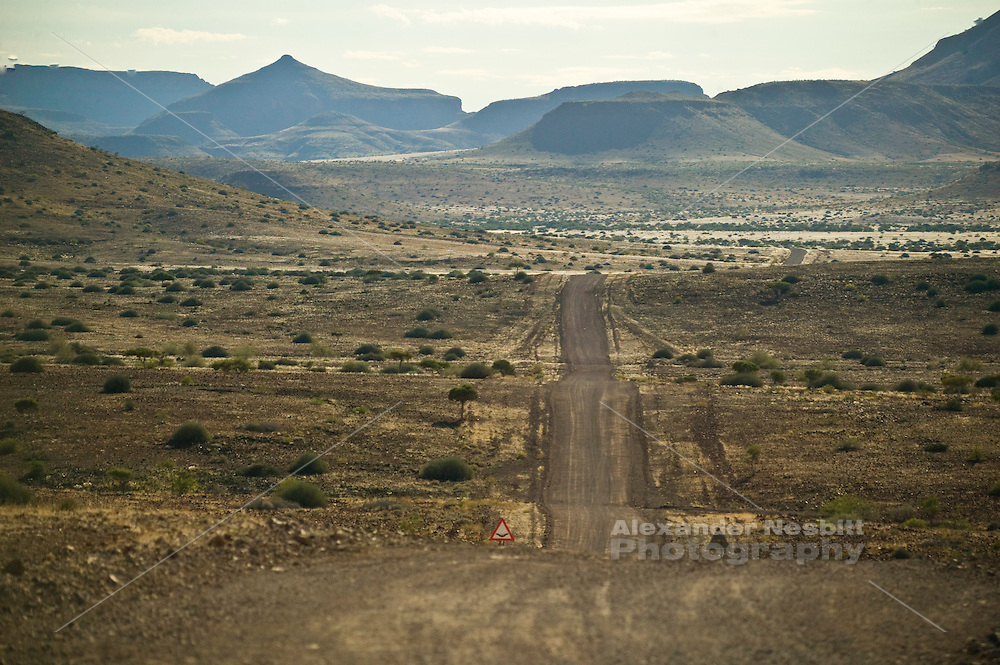 Africa, Namibia - road out of northern skeleton coast park gate, from Torra Bay toward Palwag. Route C39