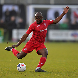 TELFORD COPYRIGHT MIKE SHERIDAN Theo Streete of Telford during the Vanarama Conference North fixture between Darlington and AFC Telford United at Blackwell Meadows on Saturday, November 30, 2019.<br /> <br /> Picture credit: Mike Sheridan/Ultrapress<br /> <br /> MS201920-032