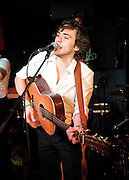 Jack Savoretti <br /> playing live at The Soho Jazz Club Pizza Express Dean Street, London, Great Britain 6th December 2011 <br /> <br /> Jack Savoretti (born 10 October 1983) is an Italian English solo acoustic singer who didn&rsquo;t pick up a guitar until he was 16. He was brought up in London before moving to Lugano, a Swiss town near the Italian border. Moving around Europe as a child he wound up at The American School In Switzerland where he picked up an accent he describes as &ldquo;transatlantic mutt&rdquo;.<br /> <br /> Burn Magazine has compared his songwriting to that of Simon &amp; Garfunkel, London&rsquo;s Daily Telegraph describes his guitar playing as having a &lsquo;primal magic about it,&rsquo; and some music industry insiders are already buzzing around calling him the new Bob Dylan.