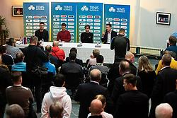 during press conference at ceremony awards at TNS Gala event in Siti theatre in Ljubljana on 28. November, 2019, Slovenia. Photo Grega Valancic / Sportida