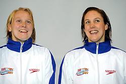 06-12-2008 ZWEMMEN: SWIMCUP: EINDHOVEN<br /> Inge Dekker en Marleen Veldhuis<br /> ©2008-WWW.FOTOHOOGENDOORN.NL