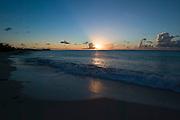 Sunset at Plum Bay.