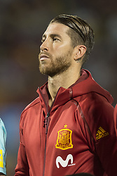 October 6, 2017 - Alicante, Spain - Sergio Ramos (Real Madrid) during the qualifying match for the World Cup Russia 2018 between Spain and Albaniaat the Jose Rico Perez stadium in Alicante, Spain on October 6, 2017. (Credit Image: © Jose Breton/NurPhoto via ZUMA Press)