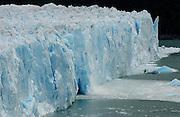 Perito Moreno glacier, drops into Lago Argentino with an 80 meter high wall of ice.