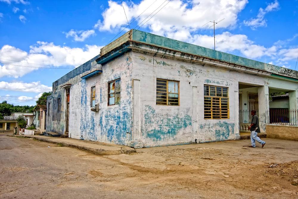 Weathered building in El Cano, south Havana, Cuba.