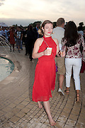 CAMILLA RUTHERFORD, Chucs Dive & Mountain Shop charity Swim Party: Lido at The Serpentine. London. 4 July 2011. <br /> <br />  , -DO NOT ARCHIVE-© Copyright Photograph by Dafydd Jones. 248 Clapham Rd. London SW9 0PZ. Tel 0207 820 0771. www.dafjones.com.