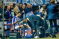 LIENDEN - 21-09-2016, FC Lienden - AZ, Sportpark de Abdijhof, Lienden speler Erik De Kruijk valt geblesseerd uit.