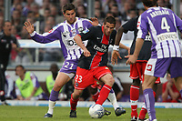 Fotball<br /> Frankrike<br /> Foto: Dppi/Digitalsport<br /> NORWAY ONLY<br /> <br /> FOOTBALL - FRENCH CHAMPIONSHIP 2007/2008 - L1 - TOULOUSE FC v PARIS SG - 03/05/2008 - JEREMY CLEMENT (PSG) / ANDRE PIERRE GIGNAC (TOU)