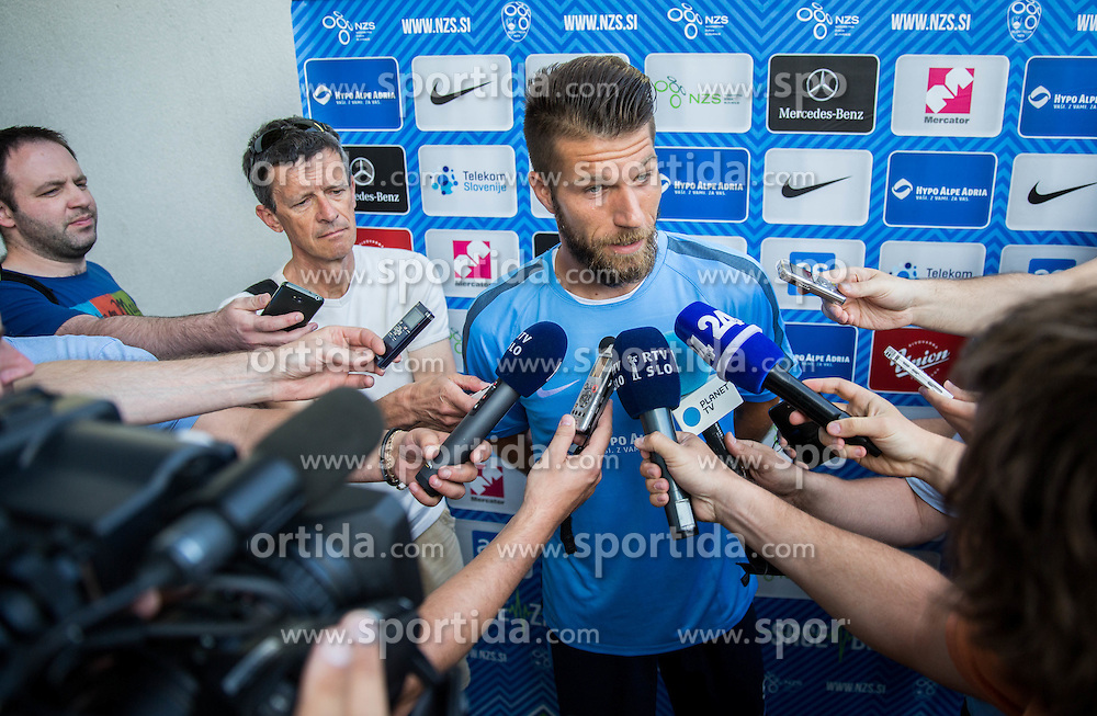 Bostjan Cesar prior to the practice session of Slovenian National Football Team before Euro 2016 Qualifications match against England, on June 12, 2015 in SRC Stozice, Ljubljana, Slovenia. Photo by Vid Ponikvar / Sportida