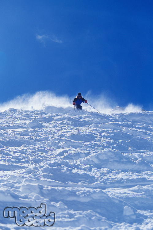 Person skiing low angle view