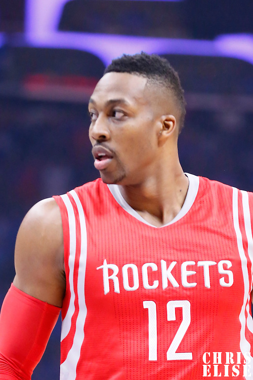 14 May 2015: Houston Rockets center Dwight Howard (12) is seen during the Houston Rockets 119-107 victory over the Los Angeles Clippers, in game 6 of the Western Conference semifinals, at the Staples Center, Los Angeles, California, USA.
