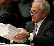 Jun 10, 2010 - Washington, District of Columbia, U.S., - Senator Bob Corker looks over the Wall Street Reform and Consumer Protection Act during a House-Senate Conference committee on Capitol Hill Thursday..(Credit Image: © Pete Marovich/ZUMA Press)