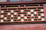 Detail on the Huxinting Teahouse in Yu Yuan Gardens Shanghai, China
