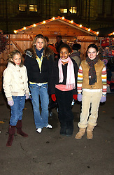 at the opening of the Natural History Museum's Ice Rink on 16th November 2005.<br />