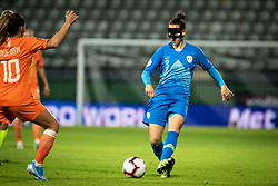 Sara Agrež of Slovenia during football match between Slovenia and Nederland in qualifying Round of Woman's qualifying for EURO 2021, on October 5, 2019 in Mestni stadion Fazanerija, Murska Sobota, Slovenia. Photo by Blaž Weindorfer / Sportida