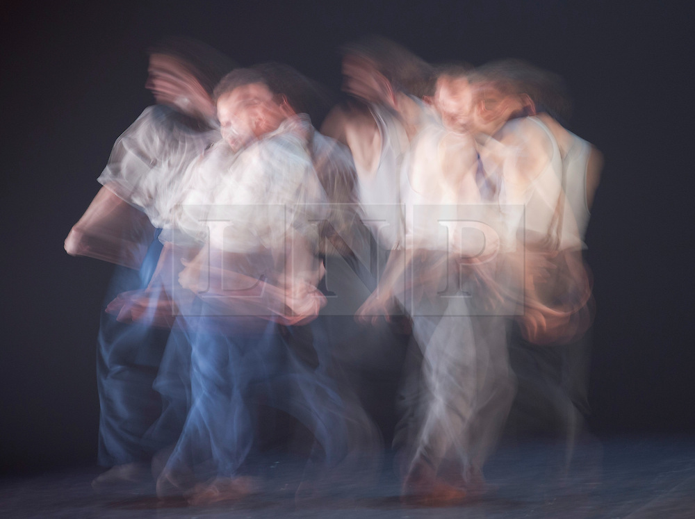 """© Licensed to London News Pictures. 03/07/2013. London, England. Picture: Long exposure motion blur images of Christopher Evans and Jason Jacobs dancing. Hofesh Shechter's """"Political Mother: The Choreographer's Cut"""" closes the first ever Sadler's Sampled season, Sadler's Wells Theatre. The entire piece involved 16 dancers and 24 musicians and runs from 3 to 7 July. Photo credit: Bettina Strenske/LNP"""