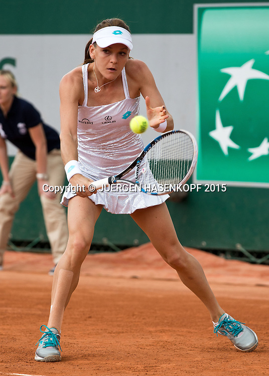 Agnieszka Radwanska (POL)<br /> <br /> Tennis - French Open 2015 - Grand Slam ITF / ATP / WTA -  Roland Garros - Paris -  - France  - 25 May 2015.