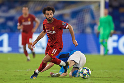 NAPLES, ITALY - Tuesday, September 17, 2019: Liverpool's Mohamed Salah during the UEFA Champions League Group E match between SSC Napoli and Liverpool FC at the Studio San Paolo. (Pic by David Rawcliffe/Propaganda)