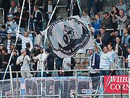 FODBOLD: FC Helsingør fans før kampen i ALKA Superligaen mellem FC Nordsjælland og FC Helsingør den 21. august 2017 i Right to Dream Park, i Farum. Foto: Claus Birch