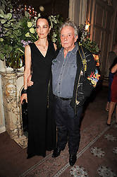 DAVID & CATHERINE BAILEY at a dinner hosted by Vogue in honour of photographer David Bailey at Claridge's, Brook Street, London on 11th May 2010.