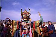 MN531 Tsam Dance masks of Mongolia, Les masques de danse tsam