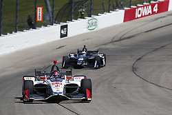 July 7, 2018 - Newton, Iowa, United States of America - MARCO ANDRETTI (98) of the United States takes to the track to practice for the Iowa Corn 300 at Iowa Speedway in Newton, Iowa. (Credit Image: © Justin R. Noe Asp Inc/ASP via ZUMA Wire)