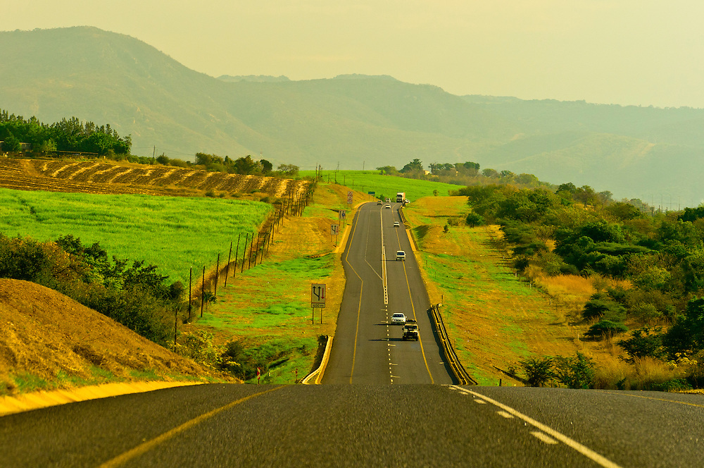 A toll road in the Crocodile Valley on the south side of Kruger National Park, near Nelspruit, South Africa