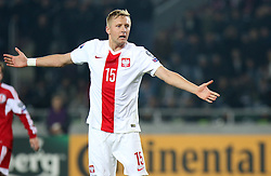 14.11.2014, Boris Paitschadse Nationalstadion, Tiflis, GEO, UEFA Euro Qualifikation, Georgien vs Polen, Gruppe D, im Bild KAMIL GLIK // during the UEFA EURO 2016 Qualifier group D match between Georgia and Poland at the Boris Paitschadse Nationalstadion in Tiflis, Georgia on 2014/11/14. EXPA Pictures &copy; 2014, PhotoCredit: EXPA/ Newspix/ Szymon Gorski<br /> <br /> *****ATTENTION - for AUT, SLO, CRO, SRB, BIH, MAZ, TUR, SUI, SWE only*****