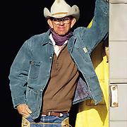"""""""Texas Cowman"""" <br /> Tom Moorhouse <br /> Moorhouse Ranch, Benjamin, Texas, 1990<br /> Texas Cowboy, book                                             20 x 30"""