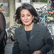 NLD/Amsterdam/20171014 - Besloten  herdenkingsdienst overleden burgemeester Eberhard van der Laan, Khadija Arib
