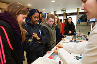 11/11/2015 Repro free:   More than 300 students visited the Marine Institute for Galway Science &amp; Technology Festival and the Sea for Society project. At the event were <br /> pupils from The mercy convent. Photo:Andrew Downes, xposure.