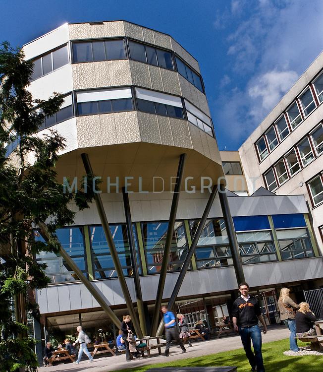 Heymans gebouw RuG in Groningen, Netherlands op 19 June, 2009. (Photo by Michel de Groot)