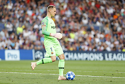 September 18, 2018 - Barcelona, Catalonia, Spain - FC Barcelona goalkeeper Marc-Andre ter Stegen (1) during the UEFA Champions League match between FC Barcelona and PSV Eindhoven at Camp Nou Stadium corresponding of matchday 1, group B on September 18, 2018 in Barcelona, Spain. (Credit Image: © Mikel Trigueros/NurPhoto/ZUMA Press)