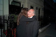ELIZABETH SALTZMAN; SIR PHILIP GREEN, Dinner hosted by Elizabeth Saltzman for Mario Testino and Kate Moss. Mark's Club. London. 5 June 2010. -DO NOT ARCHIVE-© Copyright Photograph by Dafydd Jones. 248 Clapham Rd. London SW9 0PZ. Tel 0207 820 0771. www.dafjones.com.