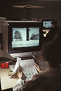 (1992) A video file search of fingerprints at the Scotland Yard in London, England. DNA Fingerprinting.
