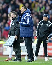Sunderland Manager, Gustavo Poyet shouts instructions - Photo mandatory by-line: Richard Martin-Roberts/JMP - Mobile: 07966 386802 - 21/02/2015 - SPORT - Football - Sunderland - Stadium of Light - Sunderland v West Bromwich Albion - Barclays Premier League