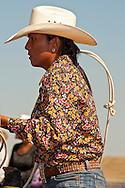 Crow Fair, rodeo, breakaway roper, Crow Indian Reservation, Montana, Yolanda Nez, Navajo, past INFR World Champion