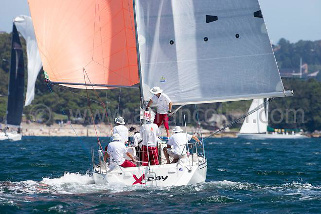 XRAY during the 2016 Sydney Harbour regatta, Sydney<br />