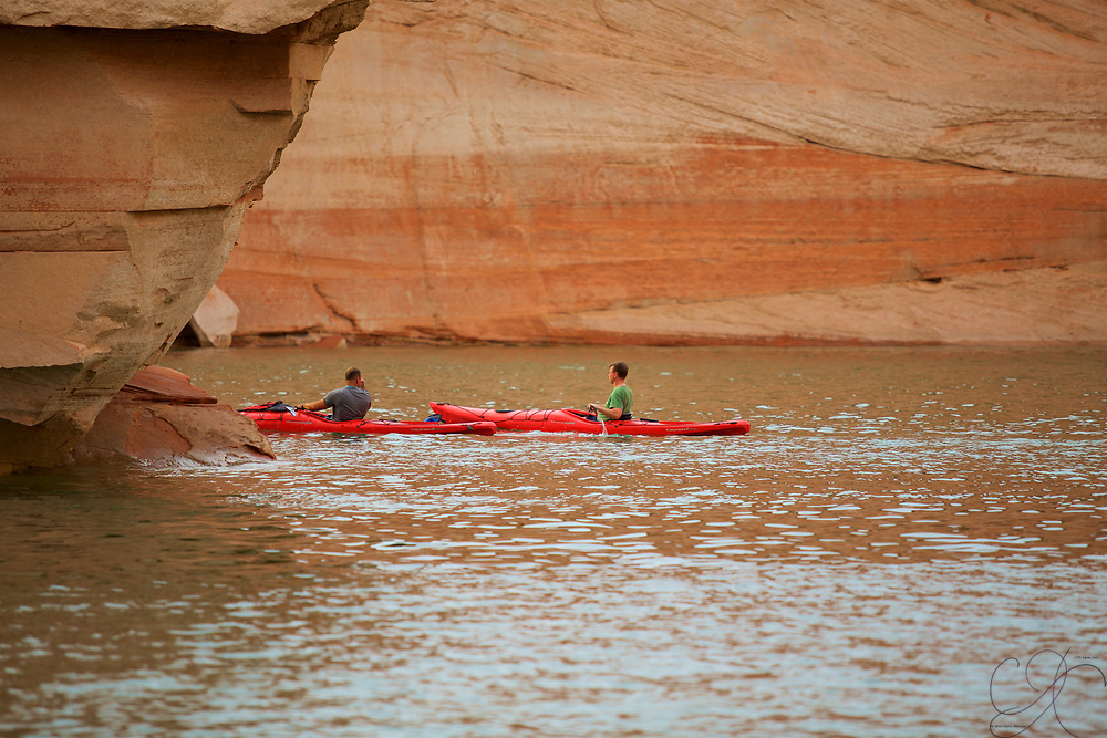 The perfect color Kayaks for such an amazing multi-colored canyon!