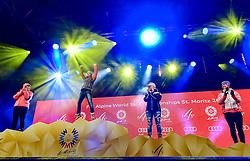 07, St. Moritz, SUI, FIS Weltmeisterschaften Ski Alpin, St. Moritz 2017, Super G, Damen, Siegerehrung, im Bild v.l.Tina Weirather (LIE, Silbermedaille), Nicole Schmidhofer (AUT, Weltmeisterin), Lara Gut (SUI, Bronzemedaille), Viktoria Rebensburg (GER) // v.l.Tina Weirather (LIE, Silbermedaille), Nicole Schmidhofer (AUT, Weltmeisterin), Lara Gut (SUI, Bronzemedaille), Viktoria Rebensburg (GER) during the winner ceremony for the ladie's SuperG of the FIS Ski World Championships 2017. St. Moritz, Switzerland on 2017/02/07. EXPA Pictures © 2017, PhotoCredit: EXPA/ Jonas Ericson