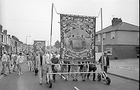 Prince of Wales Branch banner. 1990 Yorkshire Miner's Gala. Rotherham.