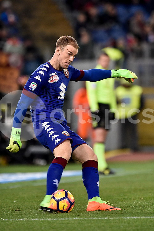 Joe Hart of Torino during the Serie A match between Roma and Torino at Stadio Olimpico, Rome, Italy on 19 February 2017. Photo by Giuseppe Maffia.