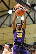 SPLYM16P<br /> Roman Catholic's Mikel Jones #20 dunks the ball against Plymouth Whitemarsh in the first quarter of a semifinal playoff game Monday March 15, 2016 at Council Rock South High School in Richboro, Pennsylvania. (William Thomas Cain/For The Inquirer)