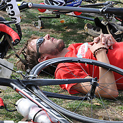 El Tour de Tucson 2011 finisher resting in Armory Park. Bike-tography by Martha Retallick.